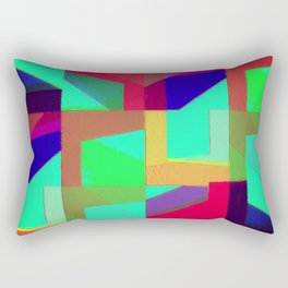 Colorful Truth. Green. Rectangular Pillow