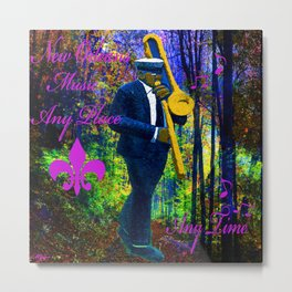 NEW ORLEANS JAZZ TROMBONE LET THE GOOD TIMES ROLL!! Metal Print