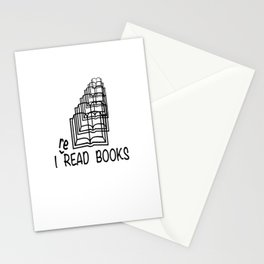 I reREAD books Stationery Cards