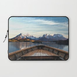 Torres del Paine National Park Chile, The Boat in Patagonia Laptop Sleeve