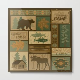 Big Bear Lodge Metal Print