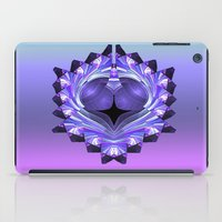 shield iPad Cases featuring Purple Shield by Awesome Palette