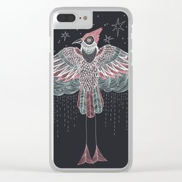 Rainbird Gray Clear iPhone Case
