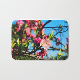 Grandma's Pink Flowers Bath Mat