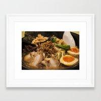 ramen Framed Art Prints featuring Ramen by Yannik Meka