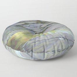 Water Lilies Afloat Floor Pillow