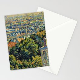 Classical Masterpiece 1900 'Paris - Montmartre' by Maximilien Luce Stationery Cards
