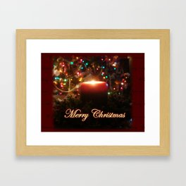 Candelit Christmas Framed Art Print