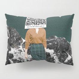 Scan my QR Code to add me Pillow Sham