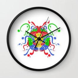 ADHD Psychological Psychologist Left Brain Right Brain Artistic Analytical Wall Clock