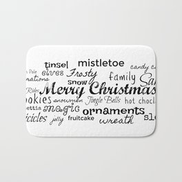 Christmas Word Play Bath Mat