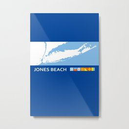 Jones Beach - New York. Metal Print