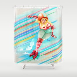 roller derby girl Shower Curtain