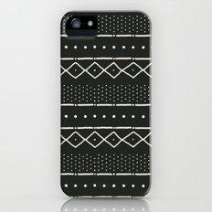 Mudcloth in bone on black iPhone (5, 5s) Slim Case