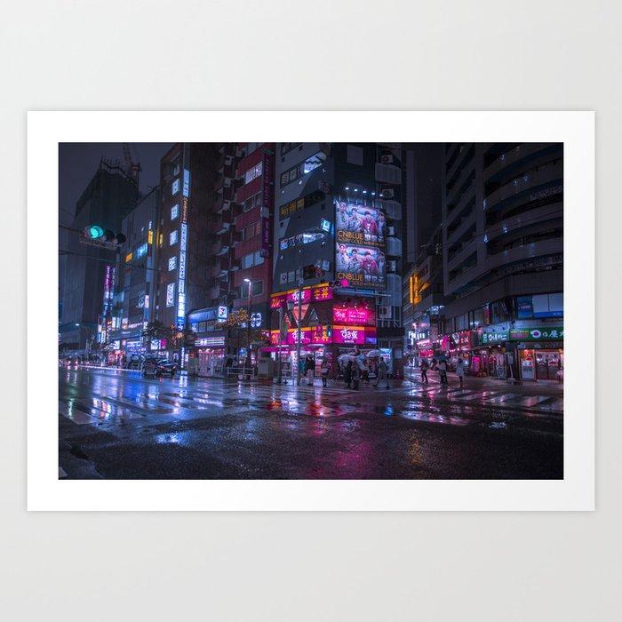 Shinjuku at night Kunstdrucke