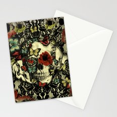 Vintage Gothic Lace Skull Stationery Cards