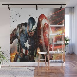 Man Of Captain In America Wall Mural