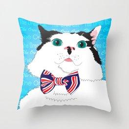 The Oreo Cat Illustration Throw Pillow