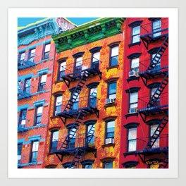New York Facades Art Print
