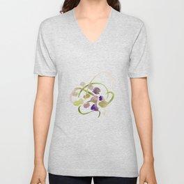 Atom Flowers #19 Unisex V-Neck