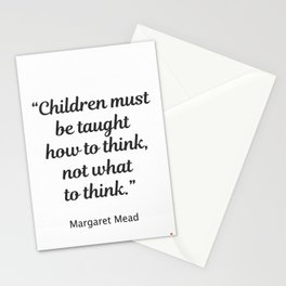 Margaret Mead quote Stationery Cards