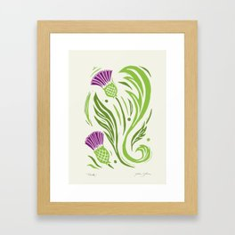 Thistle - Color Framed Art Print