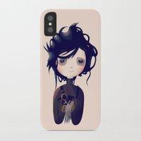 nan lawson iPhone & iPod Cases featuring Edward by Nan Lawson