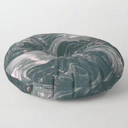 turne II. Abstract Charcoal Melt Floor Pillow