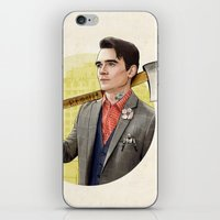 michigan iPhone & iPod Skins featuring Mr. Michigan by keith p. rein
