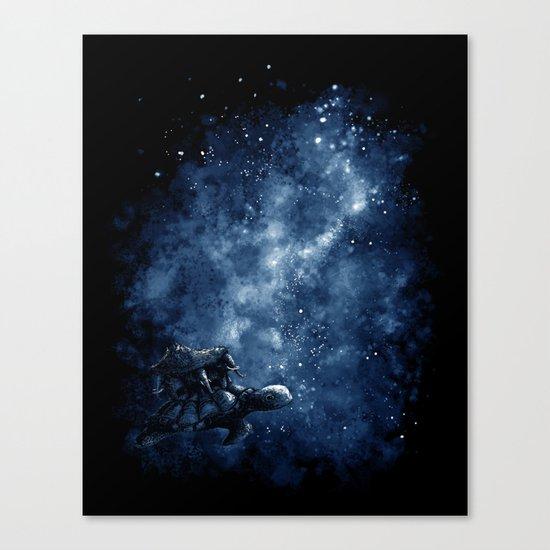 Cosmic Turtle Canvas Print