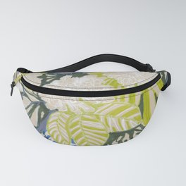 White chrysanthemums -ink floral Fanny Pack