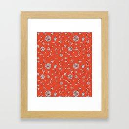 Cityicons Postmodern Travel Print - Airline Orange/Blue Framed Art Print