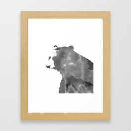 graphic bear II Framed Art Print