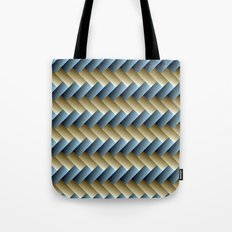 3D Weave, Blue and Yellow Gold Tote Bag
