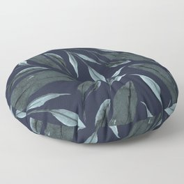 Leafy Vibes (Navy) Floor Pillow
