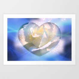 Forever Love Abstract  Art Print