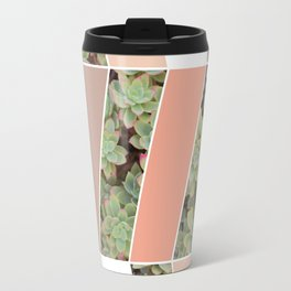 Pink Herringbone #society6 #pink #succulent Travel Mug