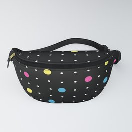 Pin Points CMYK Black Fanny Pack