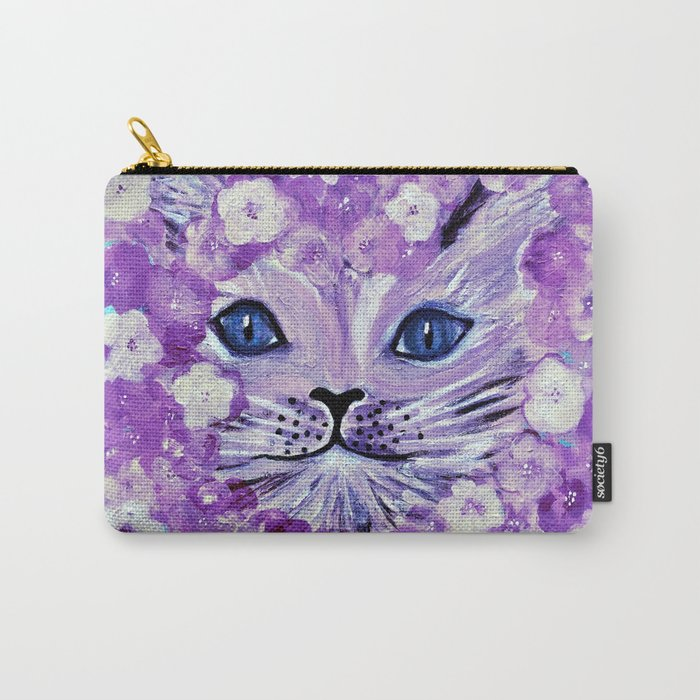 cat purple Carry-All Pouch