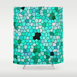 HARMONY IN TURQUOISE Shower Curtain