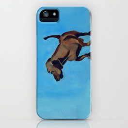 Doxie Dog in Red White and Blue iPhone Case