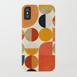 geometric abstract shapes autumn iPhone Case