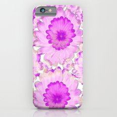 Flowery Magenta and White Slim Case iPhone 6s