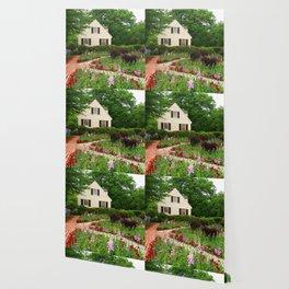 Cottage Garden - Colonial Williamsburg Wallpaper