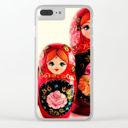Babushka Russian Doll Clear iPhone Case