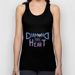 Diamond Heart Unisex Tank Top