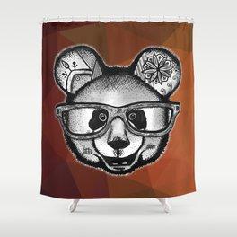 Panda Glasses Shower Curtain