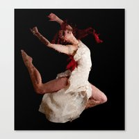 dancer Canvas Prints featuring Dancer by Vetii