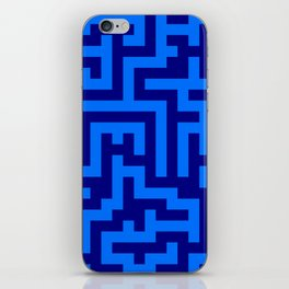 Brandeis Blue and Navy Blue Labyrinth iPhone Skin