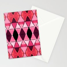 Art Deco Triangles Hot Pink Stationery Cards